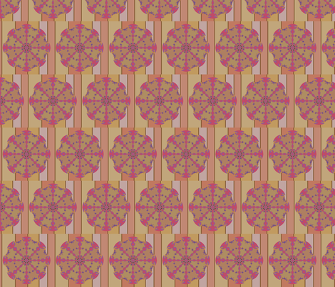 Garden Compass (Reds) fabric by david_kent_collections on Spoonflower - custom fabric