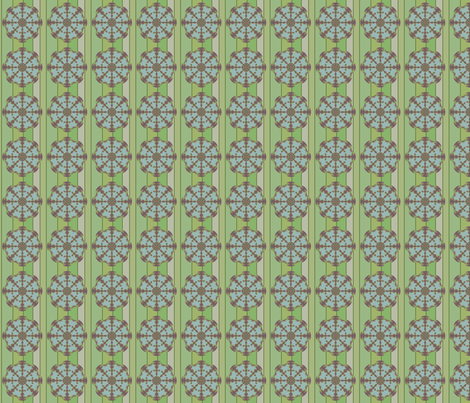 Garden Compass (Greens) fabric by david_kent_collections on Spoonflower - custom fabric