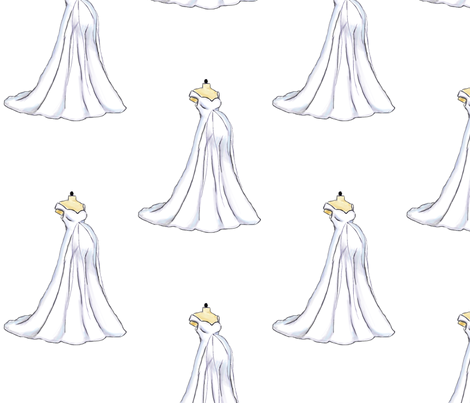 PREGNANT and BALLGOWNS fabric by viciousbeauty on Spoonflower - custom fabric