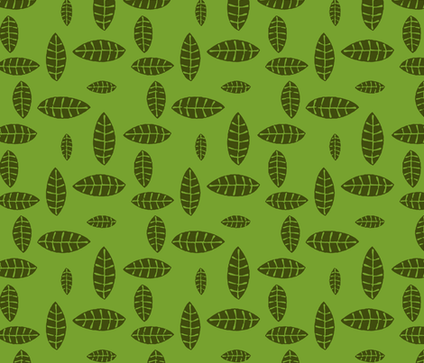 Jungle Leaves fabric by flyingfish on Spoonflower - custom fabric