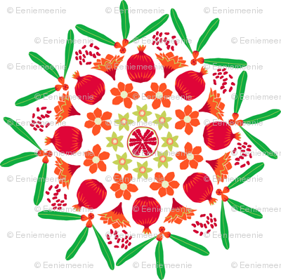 pomegranate mandala