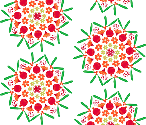 pomegranate mandala fabric by eeniemeenie on Spoonflower - custom fabric