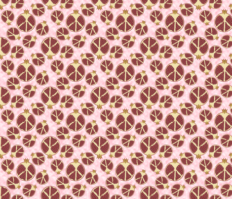 Peace, Love and Pomegranates fabric by eclectic_house on Spoonflower - custom fabric