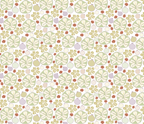 Pomegranate Scatter Print fabric by maplewooddesignstudio on Spoonflower - custom fabric