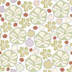 Pomegranate Scatter Print