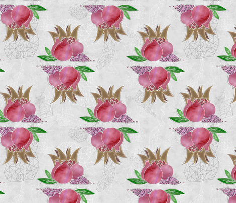 The Pomegranates fabric by feebeedee on Spoonflower - custom fabric