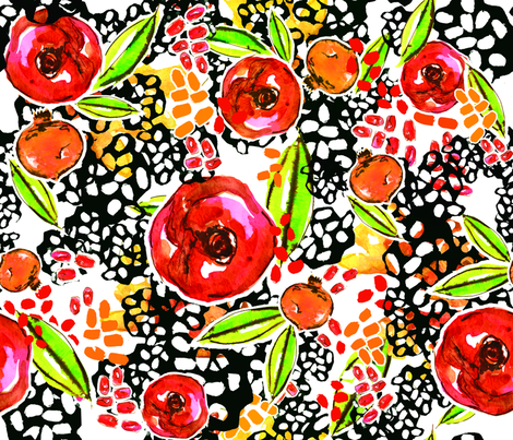 PoppyPoms fabric by jeanettagonzales on Spoonflower - custom fabric