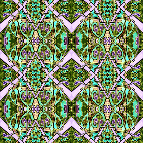 Nouveau Deco Kaleidoscope Psychedelicatessen fabric by edsel2084 on Spoonflower - custom fabric