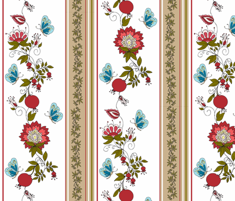 A Pomegranate Fabric for homewares fabric by designedtoat on Spoonflower - custom fabric