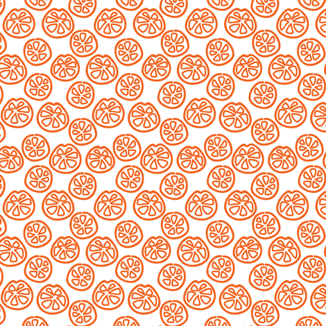 Fruity Orange fabric by ebygomm on Spoonflower - custom fabric