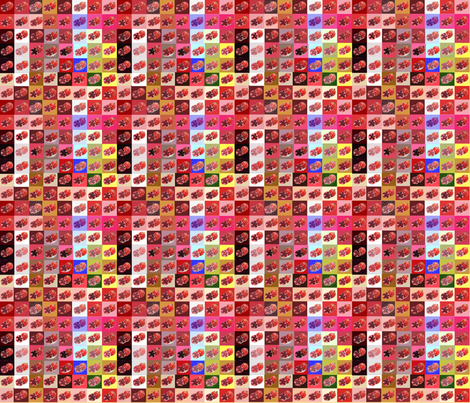 Pom-pom Pomegranate Quilt fabric by scifiwritir on Spoonflower - custom fabric