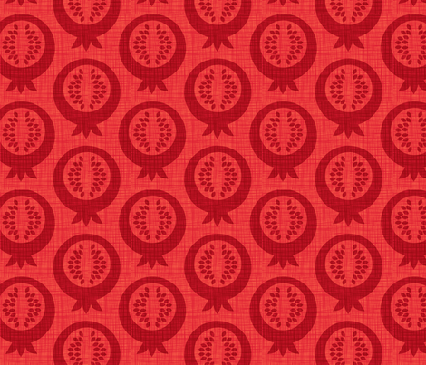 pomegranate silhouette fabric by cjldesigns on Spoonflower - custom fabric