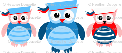 Nautical Sailor Owls