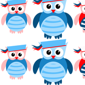 Nautical Sailor Owls