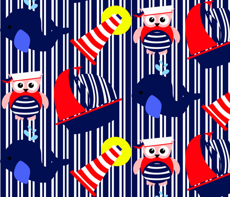 Nautical Adventure Stripes fabric by little_treasures on Spoonflower - custom fabric