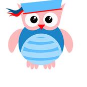 Blue Nautical Owl