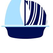 Light Blue Navy Sail Boat