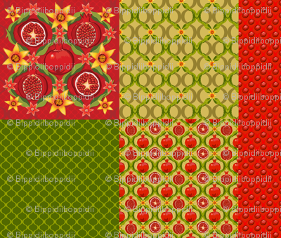 Pomegranate cushion collection 1