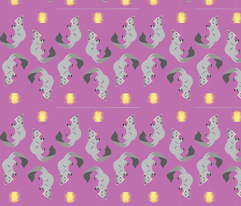 possums in the grevillea fabric by karmacranes on Spoonflower - custom fabric
