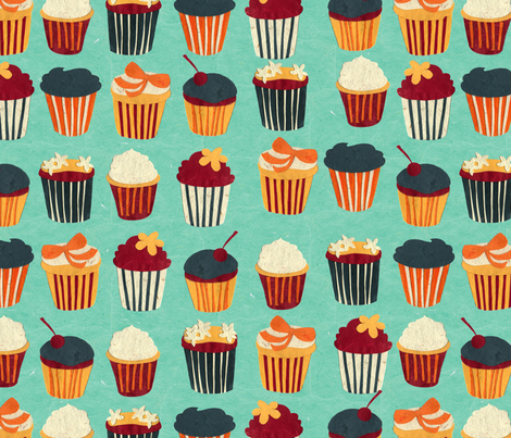 PaperCupCakes fabric by nikky on Spoonflower - custom fabric