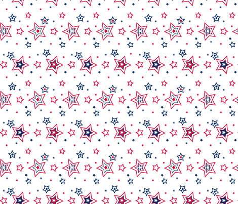 Star Medley - © Lucinda Wei fabric by simboko on Spoonflower - custom fabric