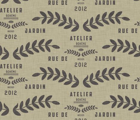 atelier_bohèmian fabric by holli_zollinger on Spoonflower - custom fabric