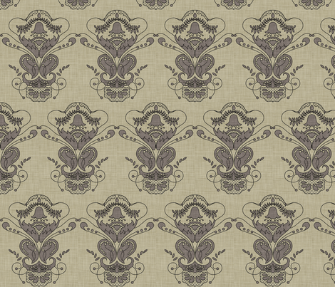 burlap_lantern_flower fabric by holli_zollinger on Spoonflower - custom fabric