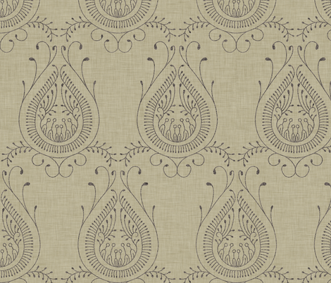 burlap_jaipur fabric by holli_zollinger on Spoonflower - custom fabric