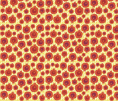 Pompelipom on yellow seeds fabric by creative_cat on Spoonflower - custom fabric