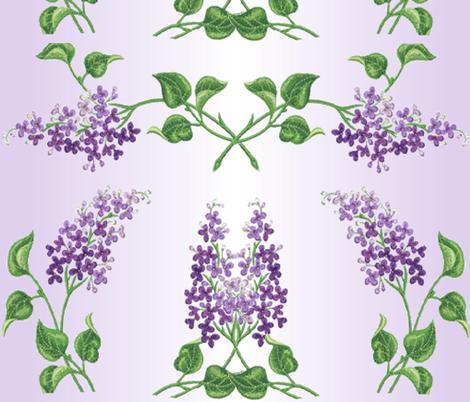 LILAC LIGHTS fabric by bluevelvet on Spoonflower - custom fabric