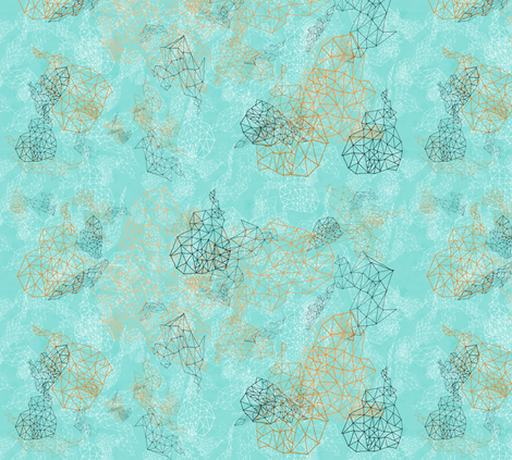 White and Orange Clouds fabric by feebeedee on Spoonflower - custom fabric