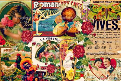 Vintage Mash-up collage.