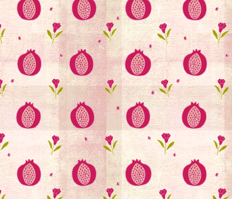 Frenchy pomegranates fabric by fantazya on Spoonflower - custom fabric