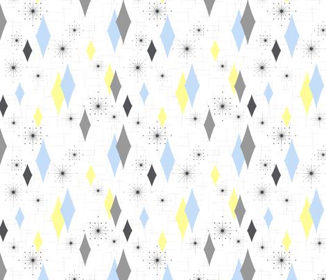 Burmond #Cb (Blue/Yellow) fabric by gammagammahey on Spoonflower - custom fabric