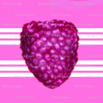 Raspberry on stripes