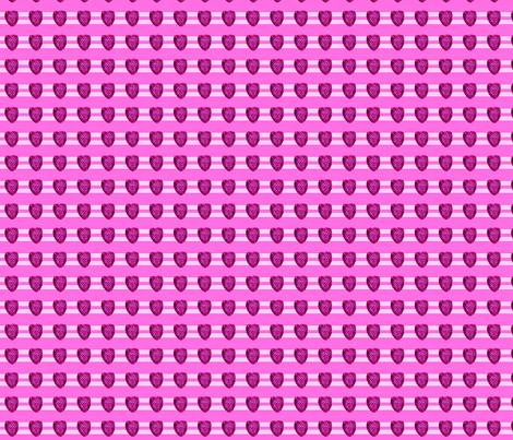 Raspberry on stripes fabric by karacake on Spoonflower - custom fabric