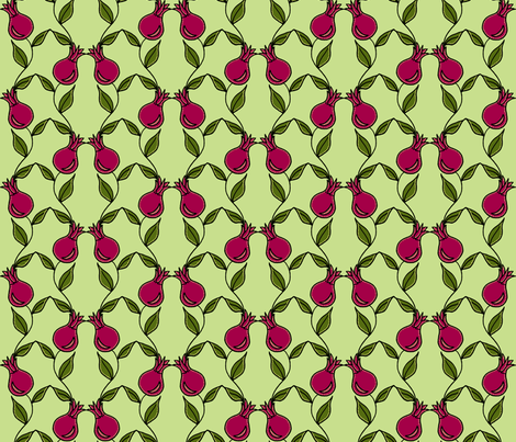 pomegranate flower pink fabric by holly_helgeson on Spoonflower - custom fabric