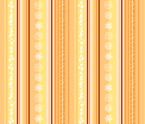Sun Stripe fabric by happyhappymeowmeow on Spoonflower - custom fabric