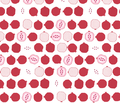 Pomegranate Pips fabric by sassafrasgirl on Spoonflower - custom fabric