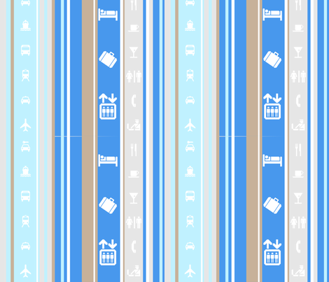 Travel Stripe fabric by happyhappymeowmeow on Spoonflower - custom fabric