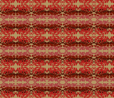 RedSwirlyWhirlies fabric by garwooddesigns on Spoonflower - custom fabric