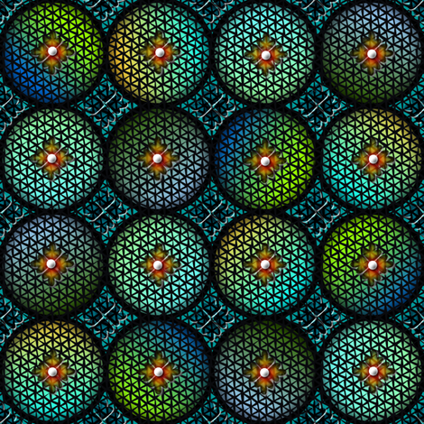 medieval glass 5 fabric by glimmericks on Spoonflower - custom fabric