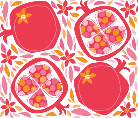 Pom-O-Roma fabric by bzbdesigner on Spoonflower - custom fabric