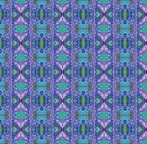 Ye Olde Lavender/Aqua/Green Vertical Stripe fabric by edsel2084 on Spoonflower - custom fabric