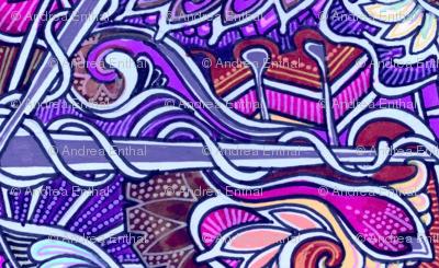 Ye Olde English Horizontal Plum/Purple Stripe