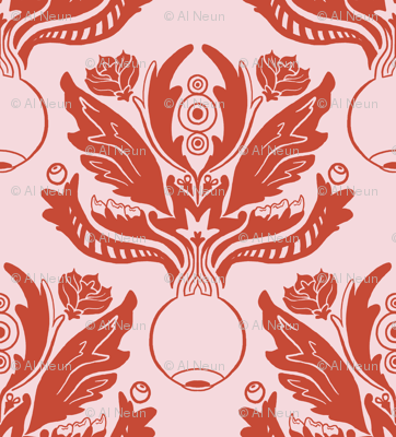 Ocular Damask - Red