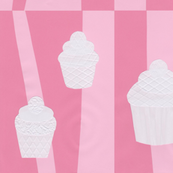 Candy Zigzag Textured Cupcake