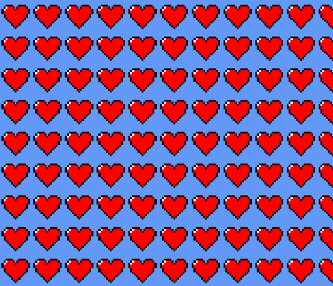 8_bit_heart fabric by rebekah_brown on Spoonflower - custom fabric