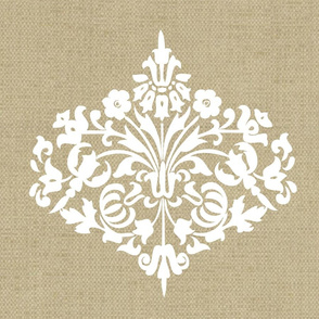 Damask_White_on_Linen