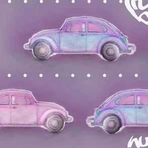 LoveBug VW Beetle - purple